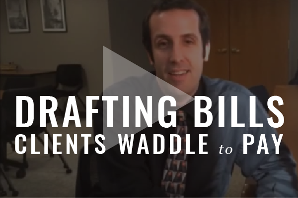Billing Construction: Drafting Bills Clients Waddle To Pay [Video]