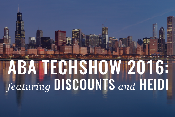 ABA TECHSHOW: 2 Discounts + 2 Presentations By Heidi