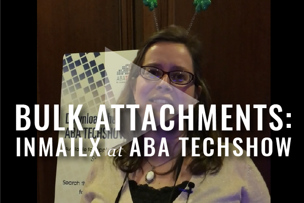 Managing Email Attachments With InMailX: Product From ABA TECHSHOW 2016 [Video]
