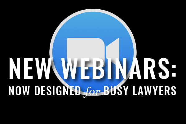 Webinars For Busy Lawyers