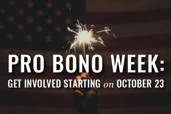 Pro Bono Week 2016 Starts On October 23