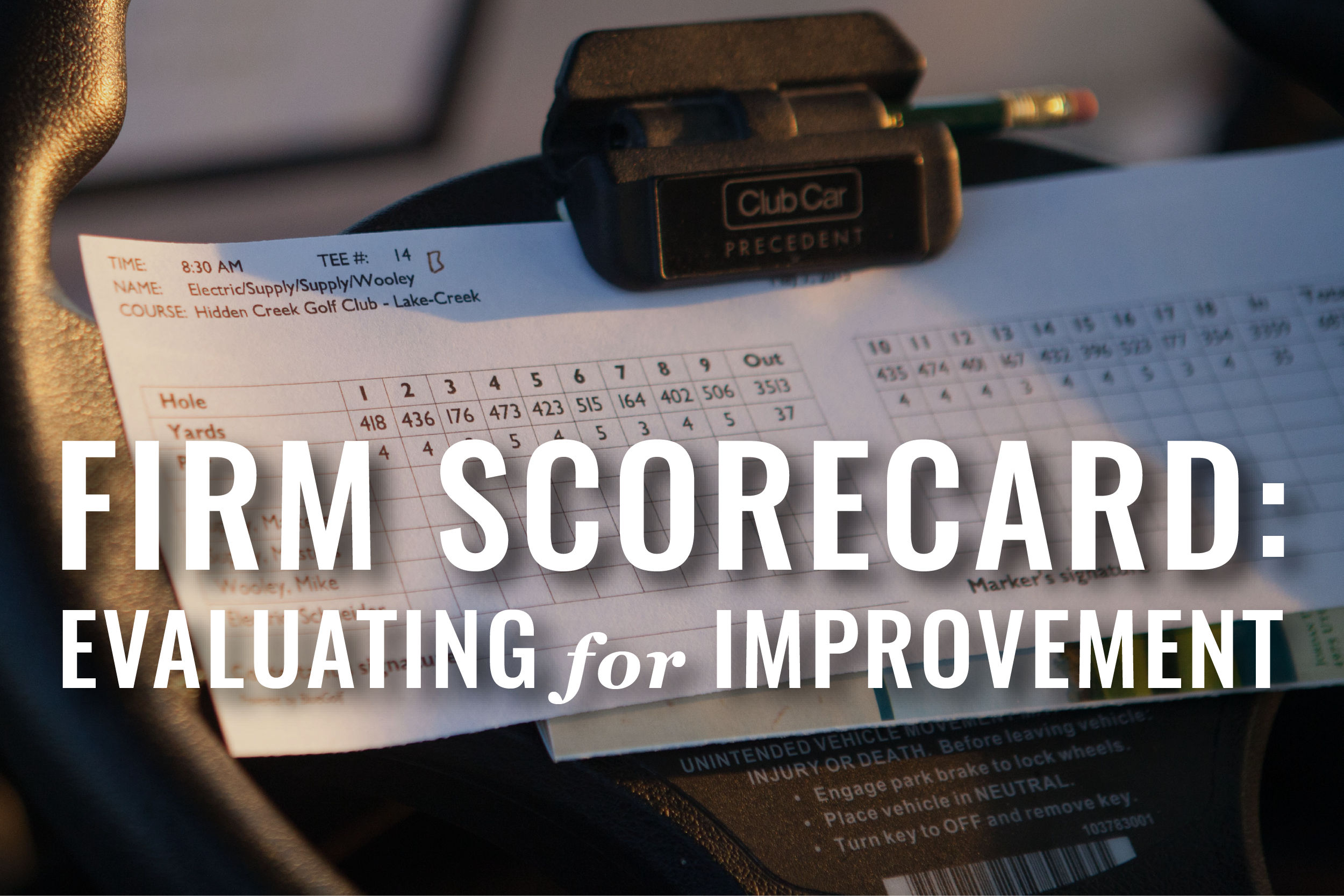 A Scorecard For Small Law Firms [Webinar]