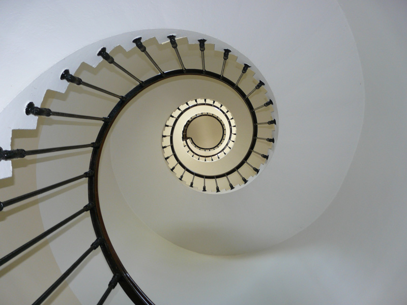 Spiral Staircase Shot From Below