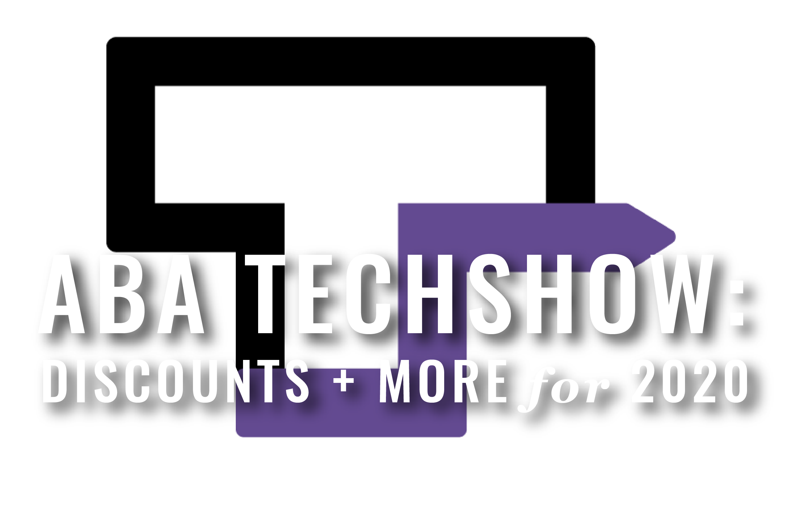 ABA TECHSHOW Logo, The Letter T With An Arrow
