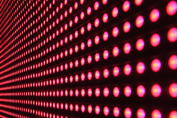 Rows Of Lighted Red Dots