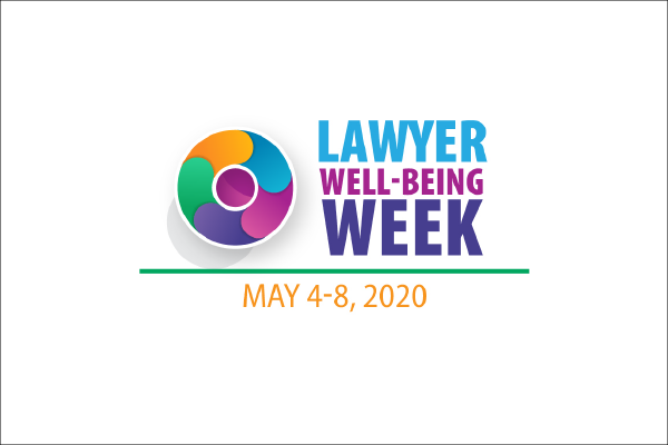 Lawyer Well-Being Week Logo, A Multicolored Fanned Circle