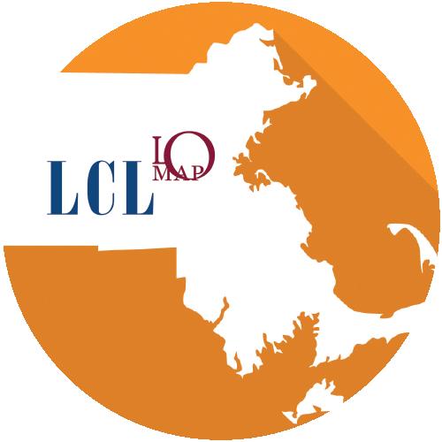 LCL MA LOMAP Logo, outline of Massachusetts